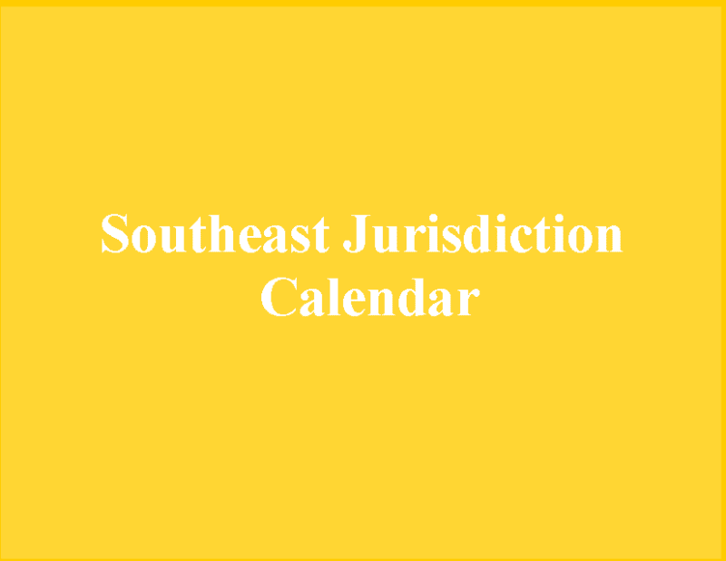 southeast-jurisdiction-calendar